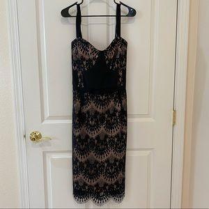 City Chic Jolie Lace Dress-Black